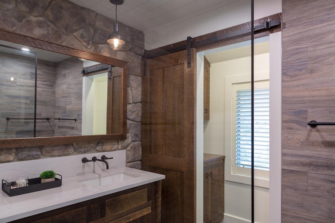 bathroom-renovation-sliding-wooden-door